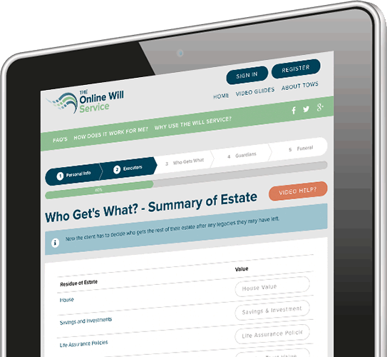 iPad - The Online Wills Questions